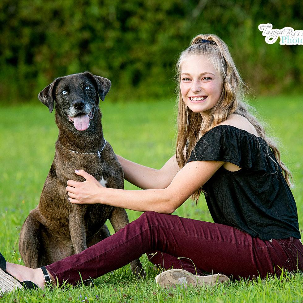 Senior Portrait Session with dog